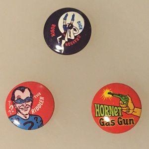 Trio of 1966 Vintage Pins